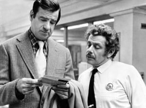 Stiller played a lieutenant in the 1974 thriller The Taking of Pelham One Two Three, starring Walter Matthau (left).