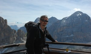 Undercover policeman Mark Kennedy, pictured on holiday in Italy in 2010