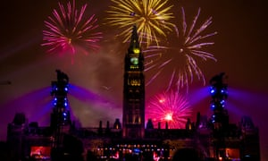 A fireworks display on New Year's Eve kicked off Ottawa's celebration of Canada's 150th birthday.