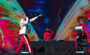 AJ Tracey on stage during Leeds Festival 2019 at Bramham Park on August 25, 2019 in Leeds, England. (Photo by Katja Ogrin/Redferns)