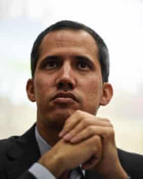 Venezuela's self-proclaimed acting president, Juan Guaidó.