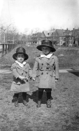 John F Kennedy , left with his brother Joseph P Kennedy Jr in Brookline, Massachusetts in 1919
