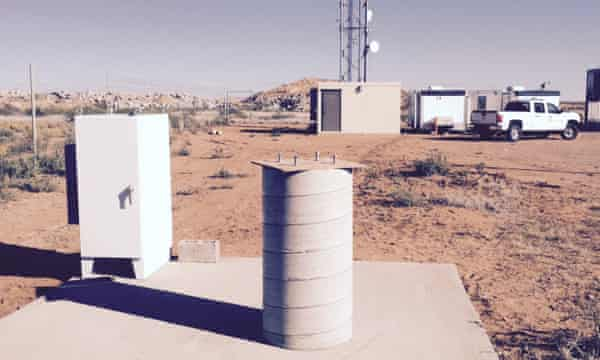 One of Google's installations at the spaceport.