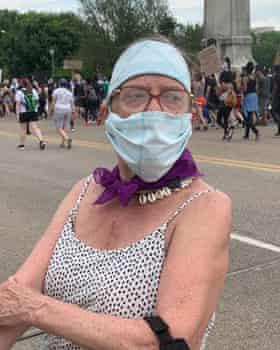 Leni Sinclair at a Detroit Black Lives Matter demonstration in June 2020.