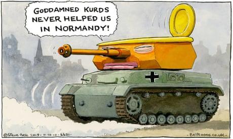 Steve Bell on Trump's defence of US troops leaving Syria – cartoon