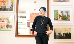 Lily Allen at her home in west London