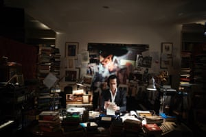 Nick Cave in his office by Amelia Troubridge, edition of 25, 11x14 inch, £60.