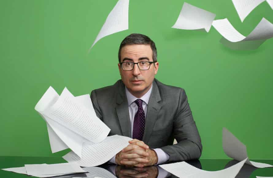 Besotted … John Oliver, host of Last Week Tonight.