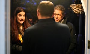 Luciana Berger canvassing with Hugh Grant in the Finchley and Golders Green constituency,