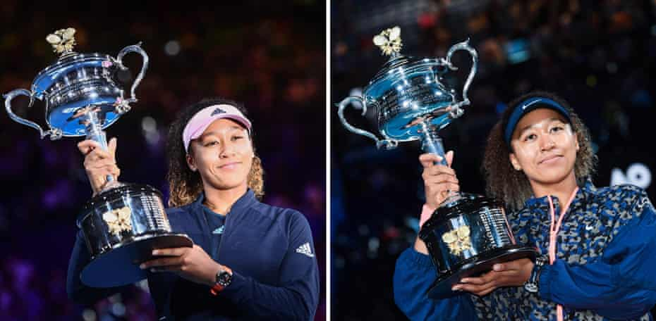 Osaka after her 2019 and 2021 triumphs in Melbourne.