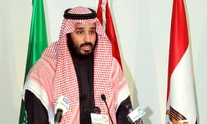 Saudi defence minister and deputy crown prince, Mohammed bin Salman announces the formation of a military coalition to fight terrorism.