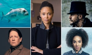 The giant trevally, Thandie Newton as DCI Roz Huntley in Line of Duty, Tom Hardy as James Delaney in Taboo, Pearl Mackie as Bill Potts in Doctor Who, and Ann Dowd as Aunt Lydia in The Handmaid's Tale.