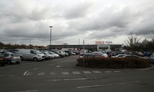 The Tesco Extra in Stanwell, Surrey, where the 19-year-old was attacked