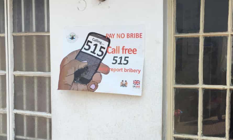 Anti bribery poster, Sierra Leone