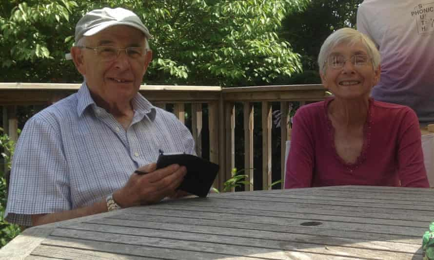 David Gompertz and his wife, Sheila, who died after contracting coronavirus, aged 83. David has now set up the Yellow Hearts to Remember Facebook group with the help of his family, encouraging people to pin yellow hearts in their windows to remember the victims of the Covid-19 epidemic.