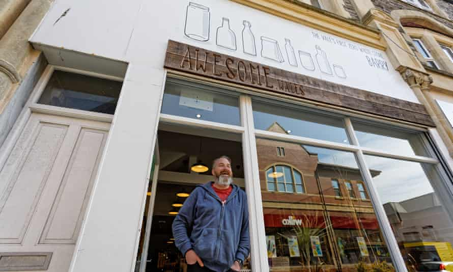 Stuart Burnell of Awesome Wales zero-waste shop in Barry