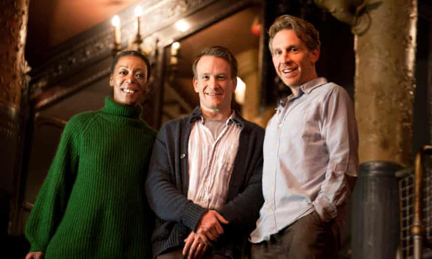 Noma Dumezweni (Hermione), Jamie Parker (Harry) and Paul Thornley (Ron) at the Palace Theatre.