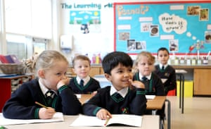 Pupils at Manor Park School and Nursery in Knutsford, Cheshire, take part in a phonics lesson, at the start of a four week national lockdown for England on 5 November, 2020.