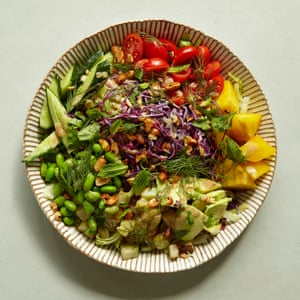 Bill Granger's chopped salad with peanuts and lime.