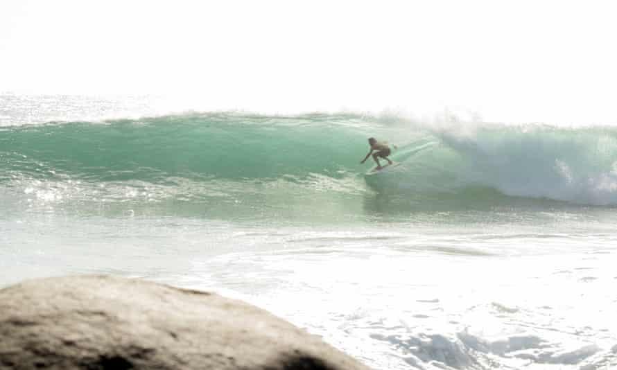 Australian Dave Rastovich free surfing.