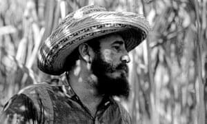 Fidel Castro pictured on a sugar plantation in 1966.