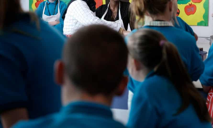 School pupils in Manchester.