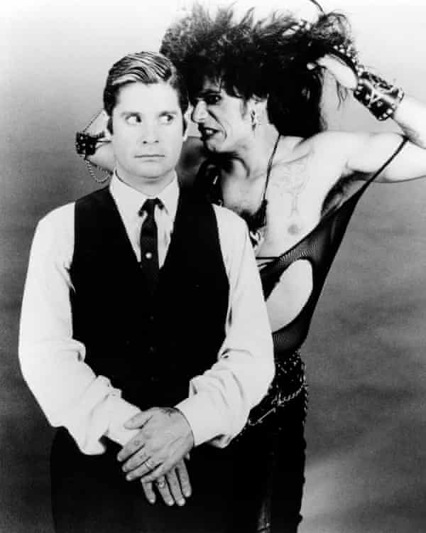 Ozzy Osbourne and Tony Fields in a promo shot for Trick or Treat, 1986.