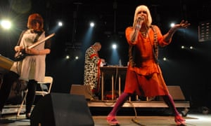 Genesis P-Orridge with Throbbing Gristle performing at the Coachella Valley festival in Indio, California, in 2009.