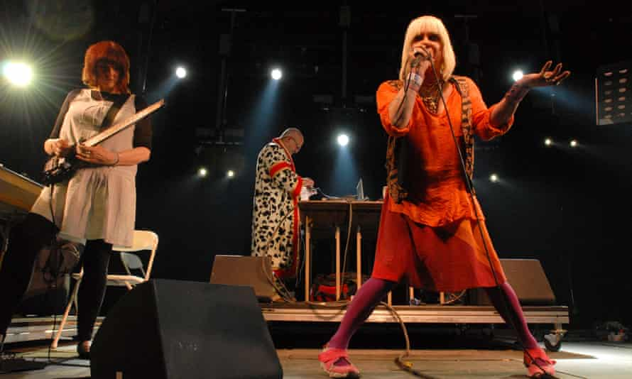 Genesis P-Orridge with Throbbing Gristle performing at the Coachella Valley festival in Indio, California, in 2009.