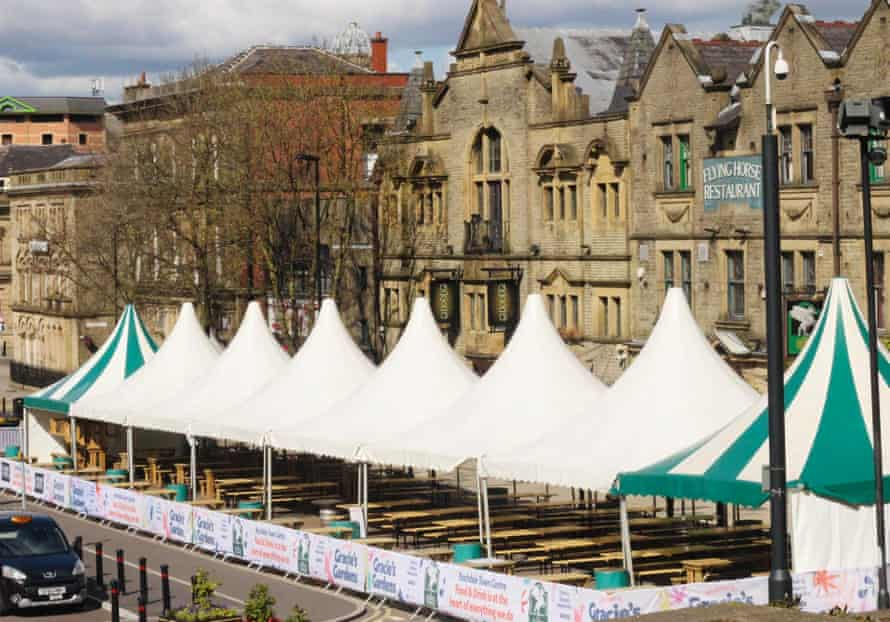 The Flying Horse's 'mega marquee' in Rochdale
