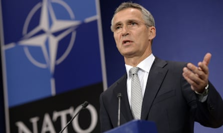 Nato's secretary general, Jens Stoltenberg, at a press conference in Brussels.
