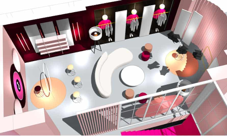 A design of the interior of the TikTok house at Westfield