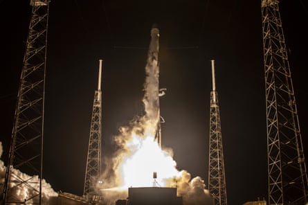 A SpaceX Falcon 9 rocket launching earlier this month.