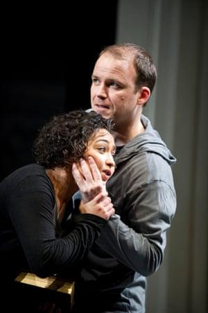Negga (Ophelia) and Rory Kinnear (Hamlet) in Hamlet at the National Theatre.