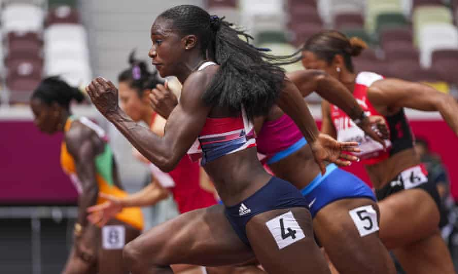 Dina Asher-Smith in her heat