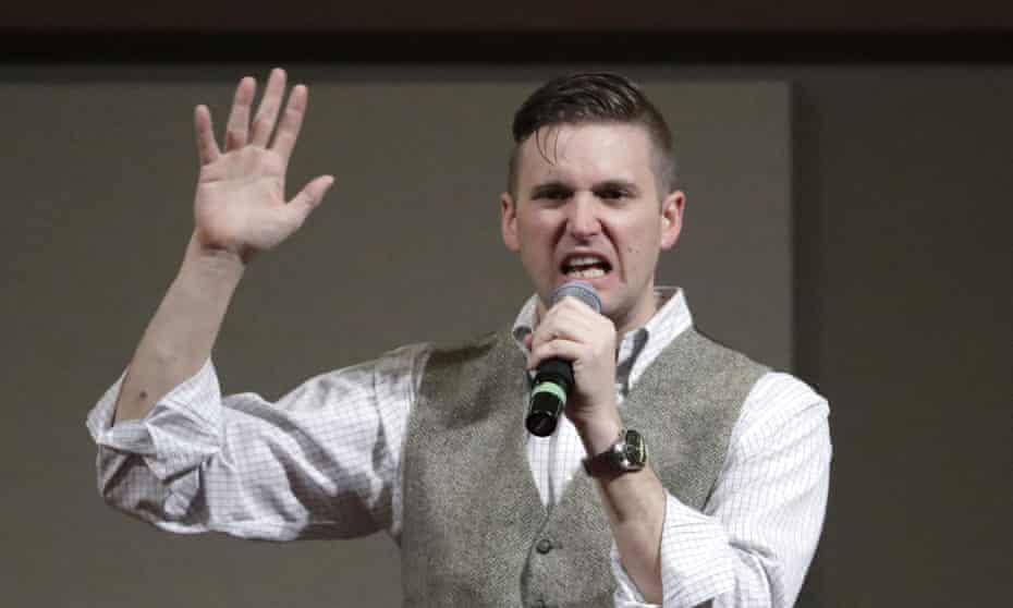 Richard Spencer is among those who lost their blue checkmarks on Twitter.