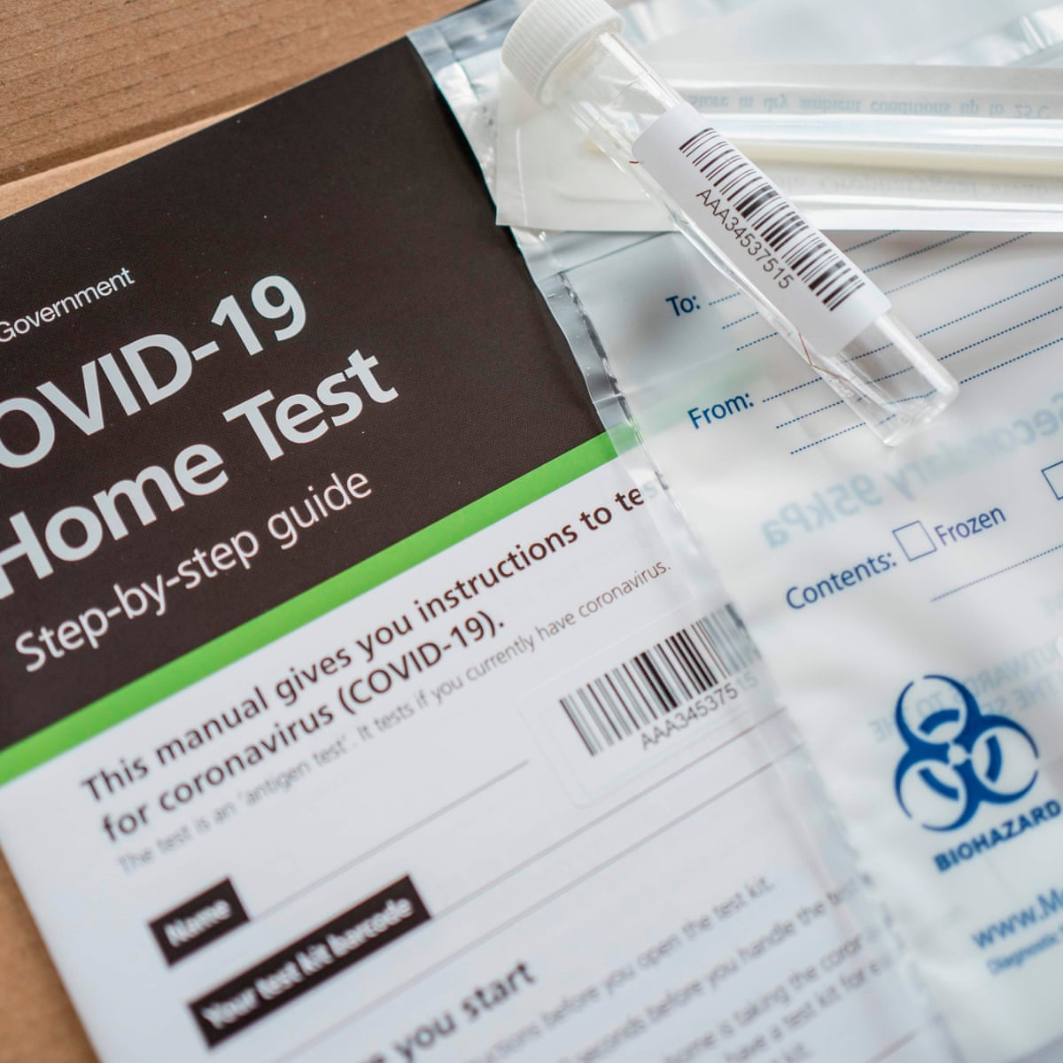 Coronavirus Home Test Kits Run Out In England And Scotland World News The Guardian