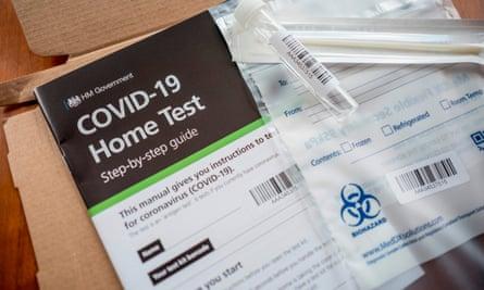 Coronavirus home test kits 'run out' in England and Scotland | Coronavirus  | The Guardian