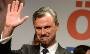 Norbert Hofer after Sunday's election but before the full result was in.