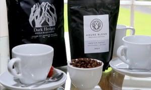 Dark Hedges' own-brand coffee.