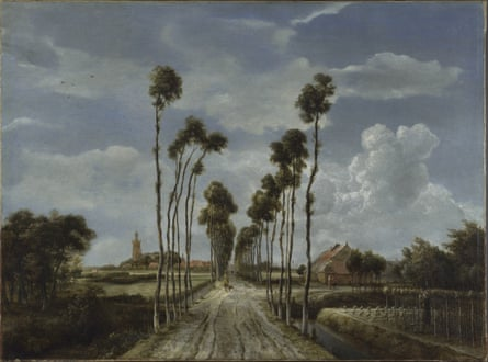 The Avenue at Middelharnis, 1689, by Meindert Hobbema.