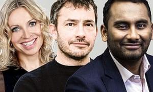 Niki Bedi, Giles Coren and Amol Rajan, the presenters of BBC2's version of Front Row.