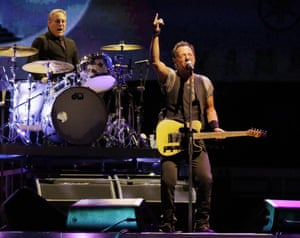 Bruce Springsteen in concert last month.