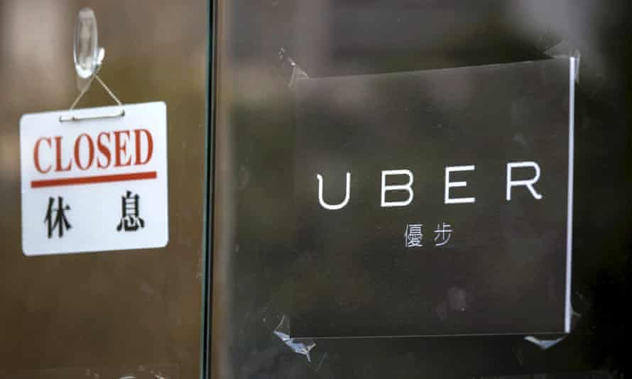 A closed sign at Uber in Hong Kong last year takes on new significance in China this month.