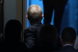 The prime minister, Malcolm Turnbull, leaves question time this afternoon.