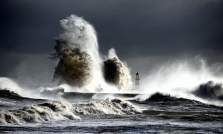 High seas at Seaham Harbour, County Durham, as flooding hit parts of England and Wales one in every five days last year, the Environment Agency said as it warned of the need to prepare for future extreme weather.