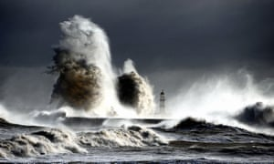 Storms whip up North Sea waves off County Durham, 2013.