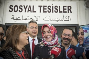 Lindsay Lohan interviewed in Gaziantep, Turkey, last October visiting an area where many Syrian refugees have settled.