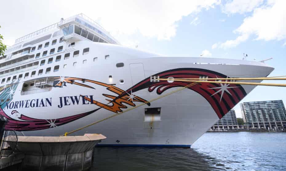The Norwegian Jewel in Sydney last month