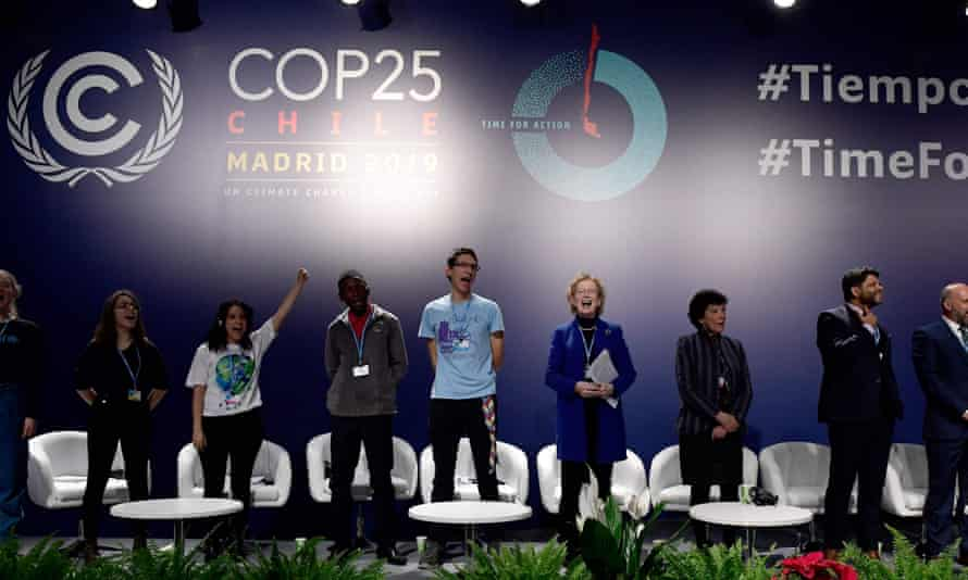 Former president of Ireland, Mary Robinson, fourth from right, at the UN Climate Change Conference COP25 in December 2019.